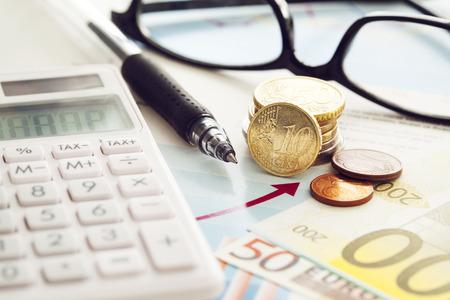 Calculator and money Stock Photo - 53831496