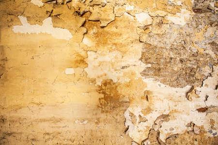 cracked concrete: Cracked concrete vintage wall Stock Photo