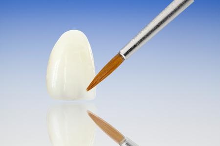 corone dentali in ceramica Metal Free Archivio Fotografico