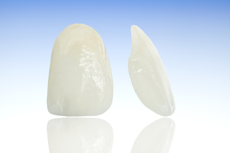 Metal free ceramic dental crowns Stock fotó - 58621348