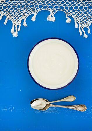 yogurt natural: yogur casero Foto de archivo
