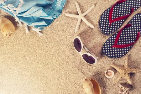 해변에서 여름 휴가
