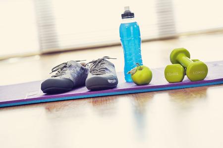 Sport equipment on fitness center