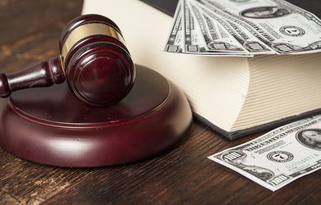 boodle: Justice gavel and money on the desk