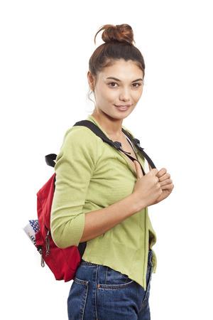 Portrait de jeune étudiant souriant Banque d'images