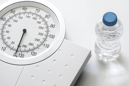 kg: Weight scale isolated on white background