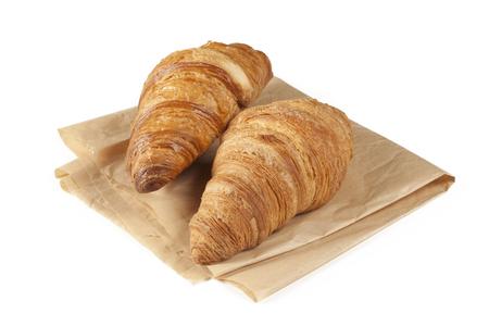 pochette: Fresh croissant on white background Stock Photo