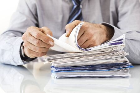 company job: Businessman working in office