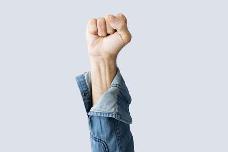 Fist raised