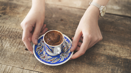 Traditional turkish coffee drink concept