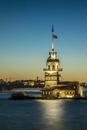 The maiden's tower Istanbul Turkey Banco de Imagens