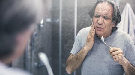 Old man with toothache Stock fotó