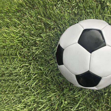 Football for soccer on grass