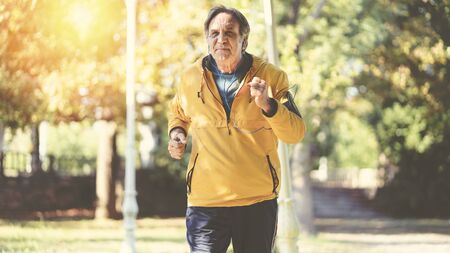 Man jogging in the park