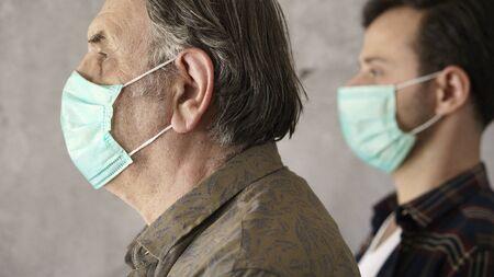 Men wearing medical mask