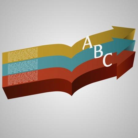 ector illustration of 3d arrows Stock Vector - 17547818