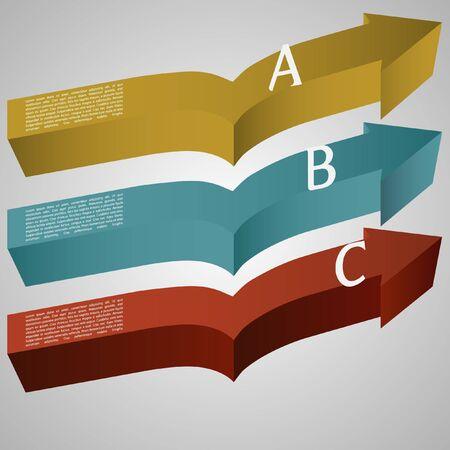 illustration of 3d arrows Stock Vector - 17547826