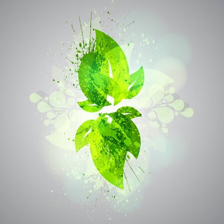 Abstract green leaves Stock Vector - 17547962