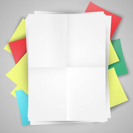Blank papers and post-its Stock Vector - 17547781