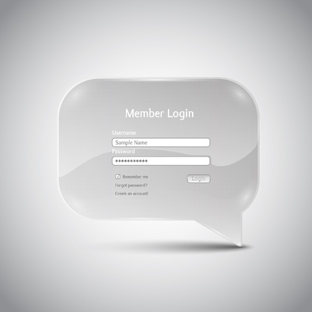 Speech bubble  Member Login  interface Illustration