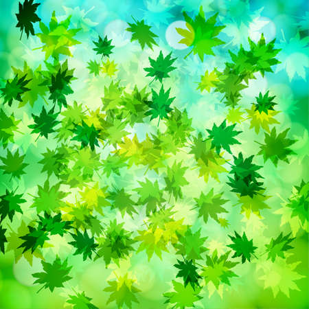 Green leaves and bokeh background Stock Vector - 17547920