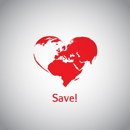 The Heart World - Save  Stock Vector - 17547808