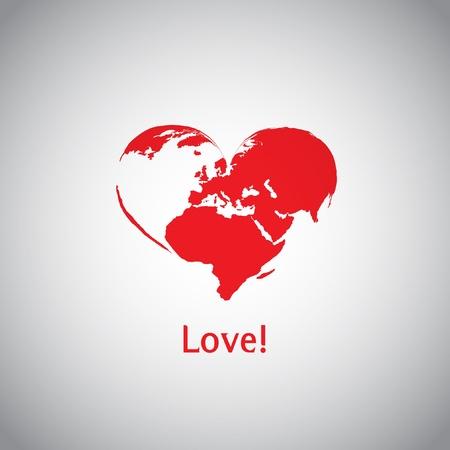 The Heart World - Love  Vector