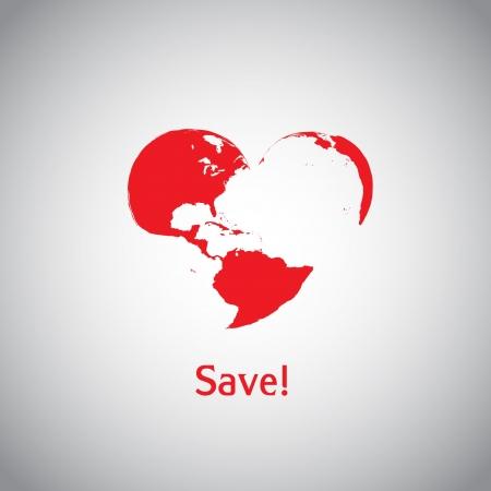 The Heart World - Save  Vector