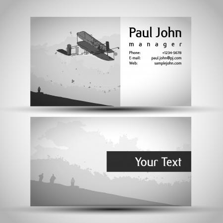 businesscard: vintage Business-Card Set Design Illustration