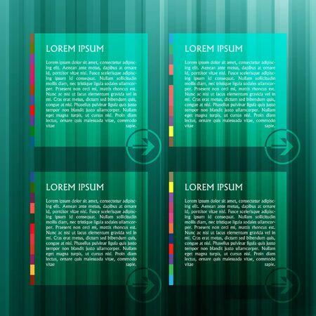 Green templates with arrows Stock Vector - 17547967