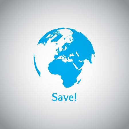 calentamiento global: Guarde el s�mbolo Mundo