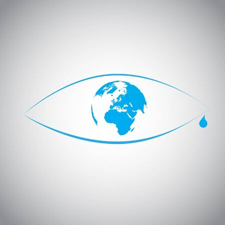 Global warming in an eye symbol Stock Vector - 17528290