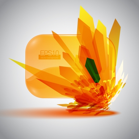 destructive: 3D speech bubble with an orange detonation