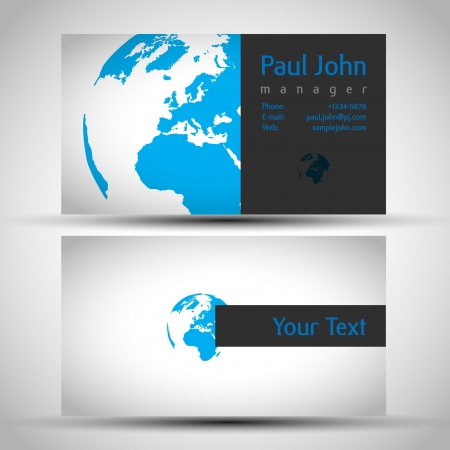 businesscard: earth business-card front and back