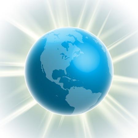 realistic earth-bulb Stock Vector - 17548201