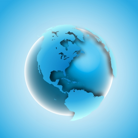 3D world with drop shadow Vector