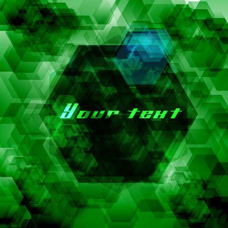Hexagon abstract background Vector