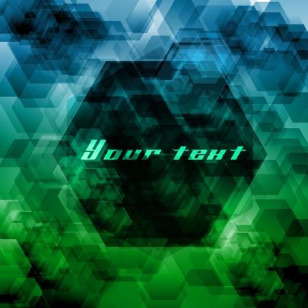Hexagon abstract background Stock Vector - 17528276