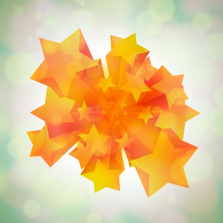 Stars coming in 3D Stock Vector - 17548190