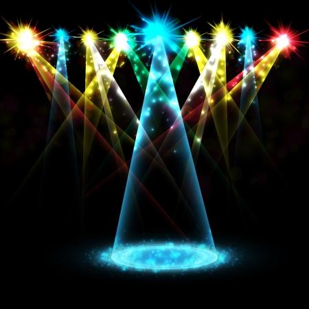 航空ショー: ステージ スポット ライト  イラスト・ベクター素材