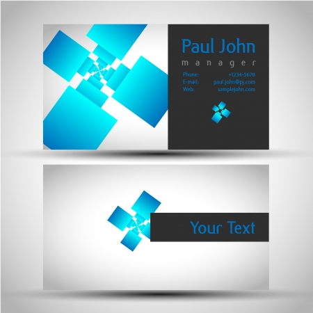 business-card front and back Stock Vector - 17548060