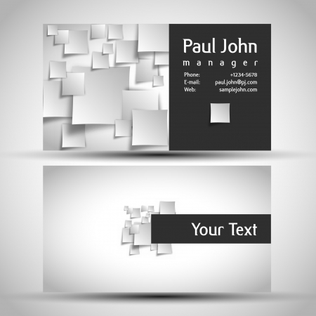 name card design: business-card front and back Illustration
