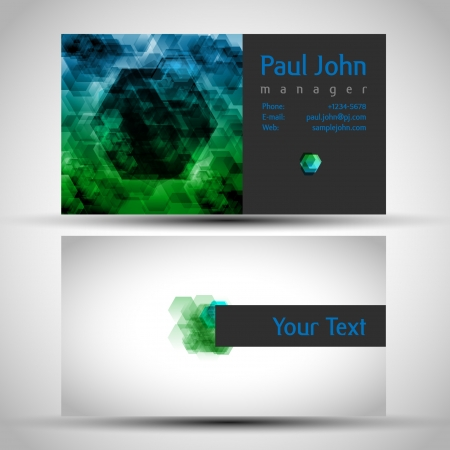 businesscard: business-card front and back Illustration