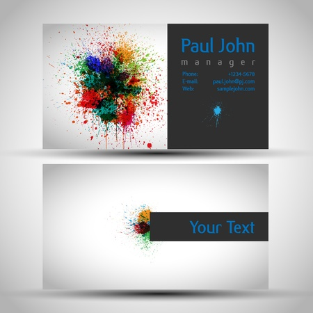 business-card front and back Ilustracja