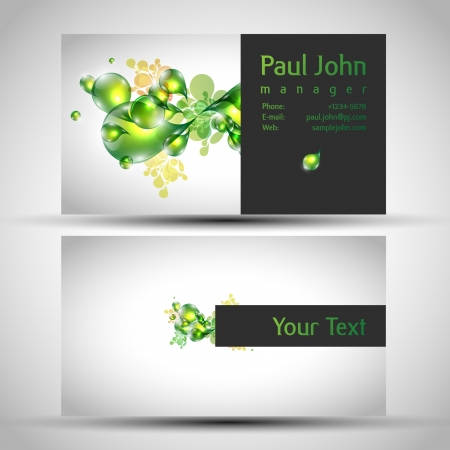 business-card front and back Illustration