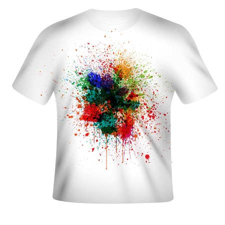 Vector t-shirt design with abstract art
