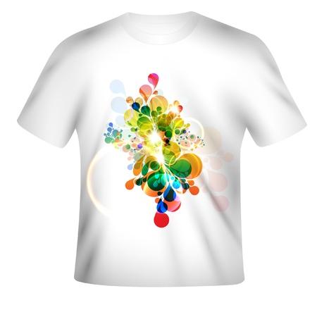 t-shirt design met abstracte kunst Stock Illustratie