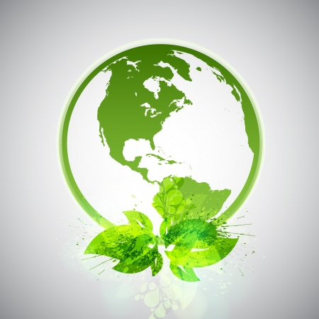 Green Eco World Stock Vector - 17529268