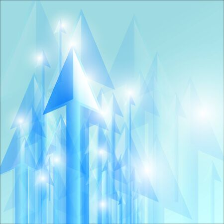 Abstract arrows going up Vector