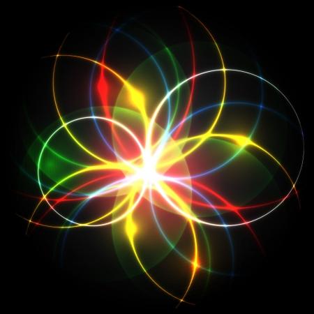 Neon   flower Stock Vector - 17617934